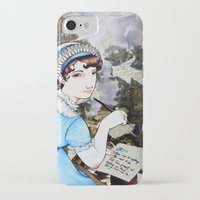 jane austen iPhone & iPod Cases featuring Jane Austen by Makissima