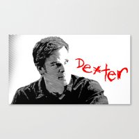 dexter Canvas Prints featuring Dexter by Crazy Thoom