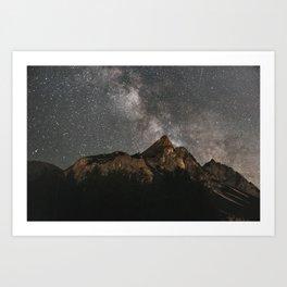 Milky Way Over Mountains - Landscape Photography Kunstdrucke