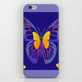 MODERN BLUE BUTTERFLIES ART iPhone Skin