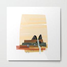 Modern abstract landscape Metal Print