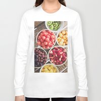 fruit Long Sleeve T-shirts featuring Fruit by Callen Guidry