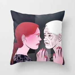 Ageing Throw Pillow