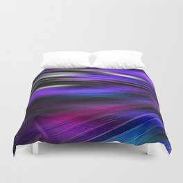 Re-Created  Feather ix by Robert S. Lee Duvet Cover
