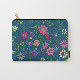 Verde, azul y rosado. (Green, blue and pink) Carry-All Pouch
