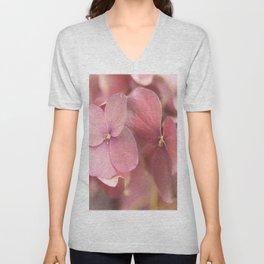 Hortensia Flower Pink Hydrangea #decor #society6 Unisex V-Neck
