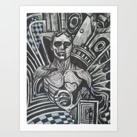 in the flesh Art Prints featuring flesh in the flesh by Gergana Bojikova