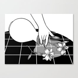 Come Out Wet Ⅱ : You ruined my vase Canvas Print