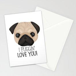 I Puggin' Love You! Stationery Cards