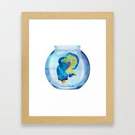 Fish Prison Framed Art Print