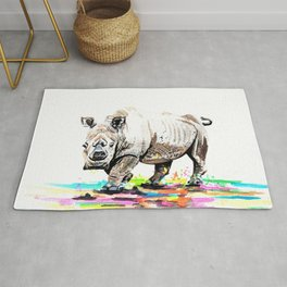 Sudan the last male northern white rhino Rug