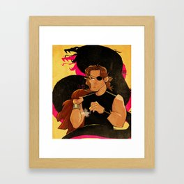 KLAPPERSCHLANGE Framed Art Print
