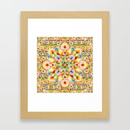 Rainbow Carousel Starburst Framed Art Print