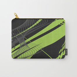 Green Black Abstract Future Technical Carry-All Pouch