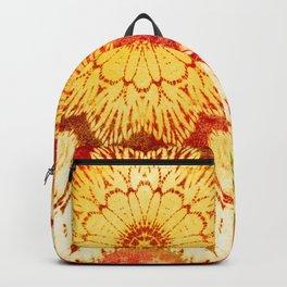 tie dye mandala in sunny mood Backpack