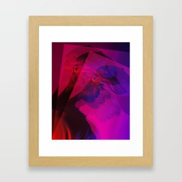 superimposed portrait Framed Art Print