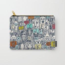 animal ABC indigo multi Carry-All Pouch