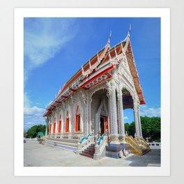 White Temple Thailand #2 Art Print