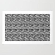 Pencil Sketched Circles Art Print