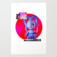 artrave Art Prints featuring ArtRAVE octopus by Sergiomonster