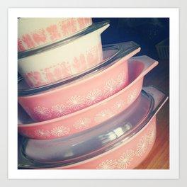 Pink Pyrex Art Print