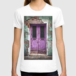 Vintage Light-Purple European Doorway T-shirt