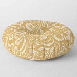 Tan & Cream Tooled Leather Floor Pillow