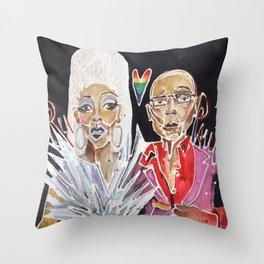 Ru Paul Throw Pillow