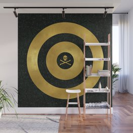 Gold Leaf Target Wall Mural