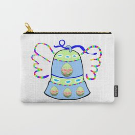Winged Bell and  Egg Carry-All Pouch
