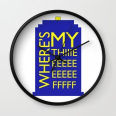 The Wife Of The Doctor Wall Clock