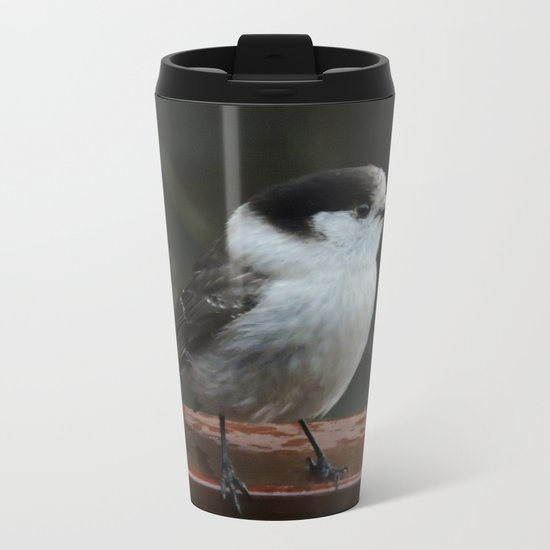 Gray Jay Metal Travel Mug