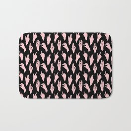 pink n black swipes Bath Mat