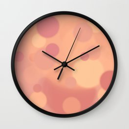 Sunrise Bokeh Wall Clock