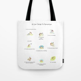 10 Little Zen Things To Remember Tote Bag