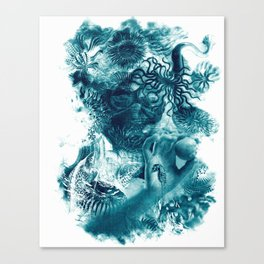 emerging undewater form life Canvas Print