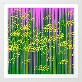 vivid mustard field Art Print