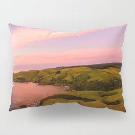 jacks bay new zealand beautiful colors at sunset farmland Pillow Sham