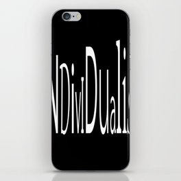 Individualist iPhone Skin