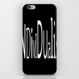 Individualist iPhone Skin