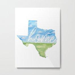 Texas Home State Metal Print
