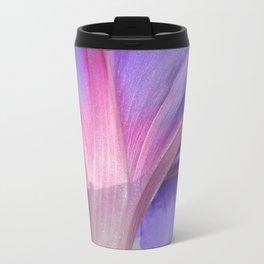 Macro of a Pale Liliac and Pink Morning Glory Travel Mug