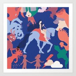 Lady godiva 2 Art Print