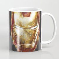 iron man Mugs featuring Iron Man by beart24