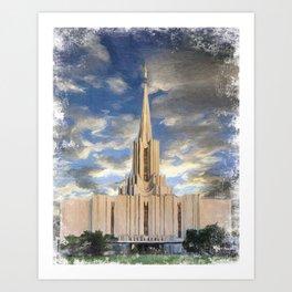 Jordan River Utah LDS Temple Art Print