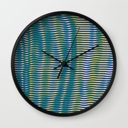 wave lines Wall Clock