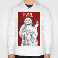 budapest hotel Hoodies featuring Hotel by Fernando Monroy Robles