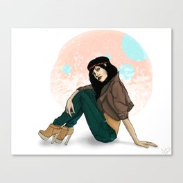 girl with hair band Canvas Print