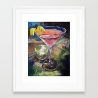 martini Framed Art Prints featuring Martini by Michael Creese