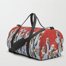 A Giggle Gaggle of Geese Duffle Bag